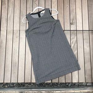 LOFT Black & White Patterned Sleeveless Mini Dress